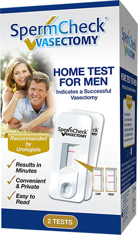 SpermCheck Vasectomy product box